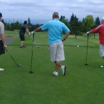 Jason (JCWC board chair) teeing up