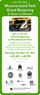 Westmoreland Park Save the Date